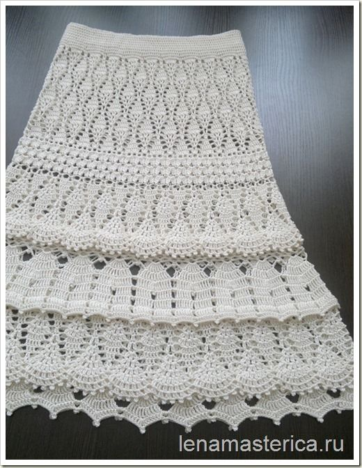 Вязаная юбка-сарафан \