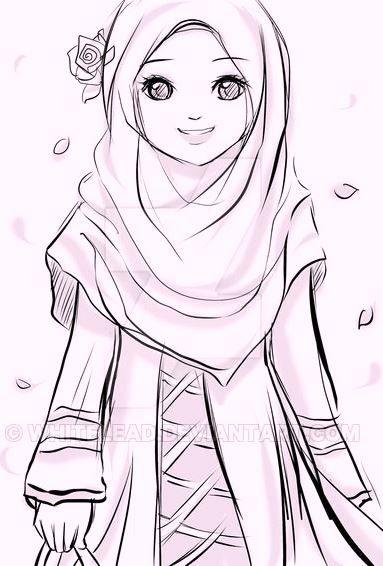 Islamic Anime Hijab Cartoon Anime Muslim Hijab Drawing