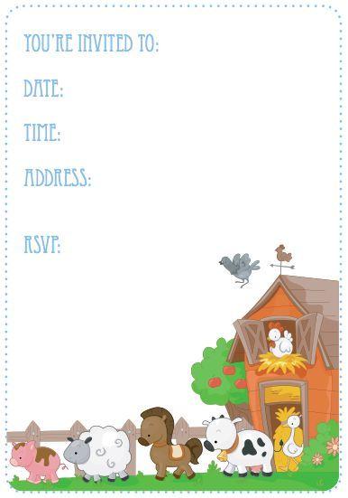 Farm themed birthday party invite chenayas 2nd birthday