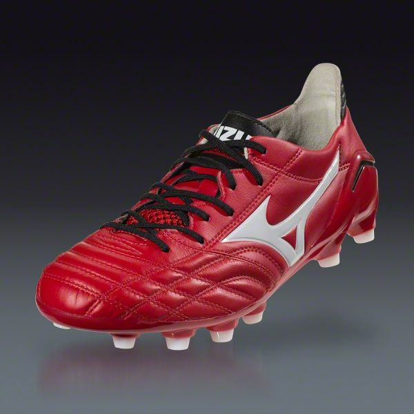 size 40 f9b2f d2195 Mizuno Morelia Neo - Red White Black Firm Ground Soccer Shoes   SOCCER.COM