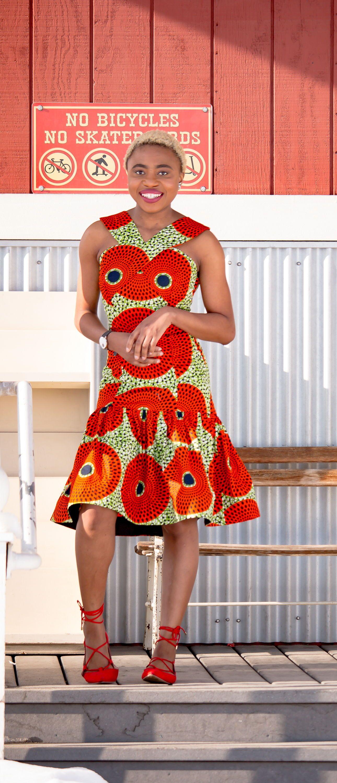 Chic African Print Summer Dress 30 Days Of African Outfits African Fashion African Fashion Designers Printed Summer Dresses [ 3000 x 1290 Pixel ]
