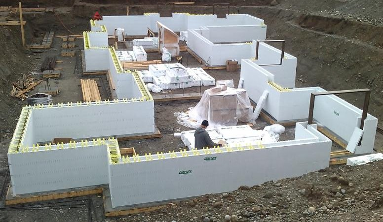 Icf Basement With Lots Of Corners Insulated Concrete