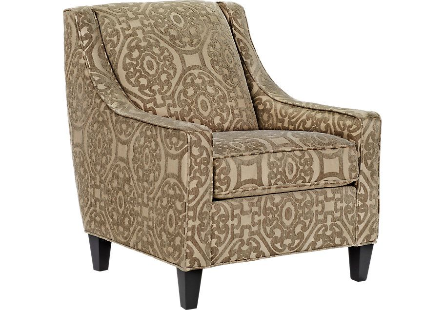 Best Cindy Crawford Home Sidney Road Taupe Accent Chair Cindy 400 x 300