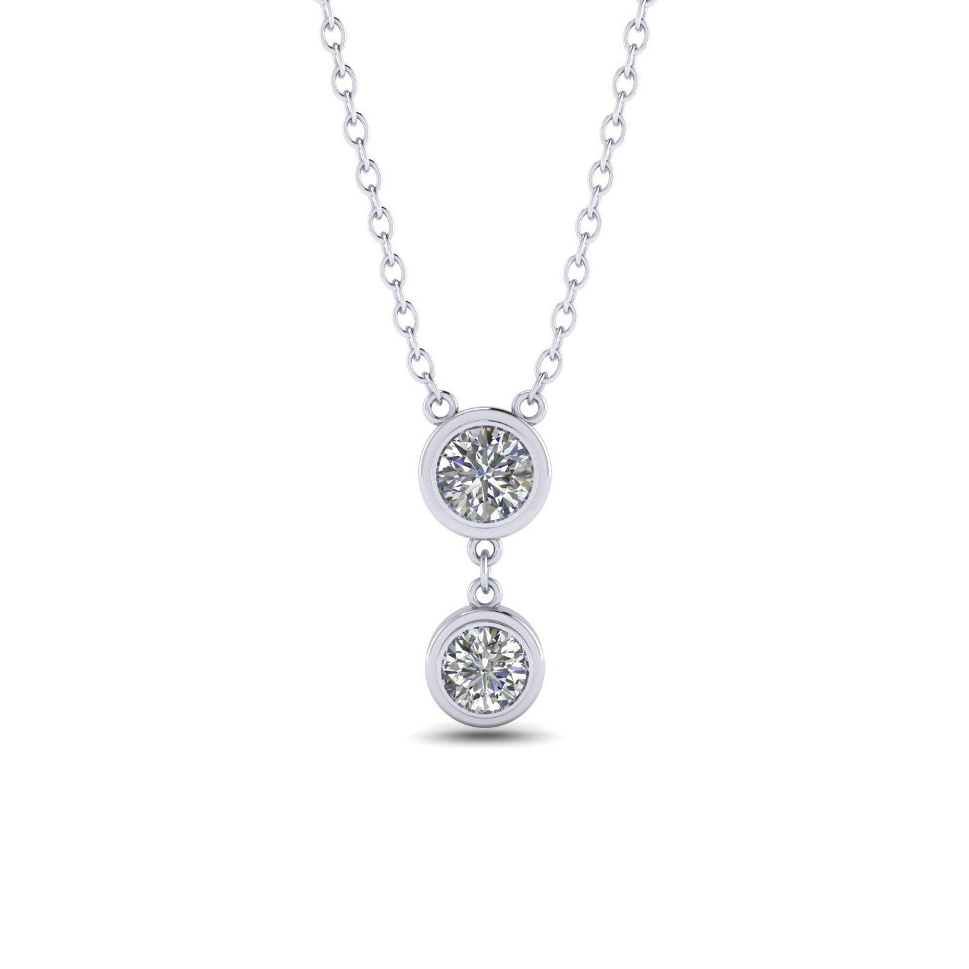 Ct diamond white gold bezel drop necklace products