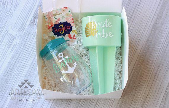 Bridesmaid Gift Set Beach Wedding Bridal Box Proposal