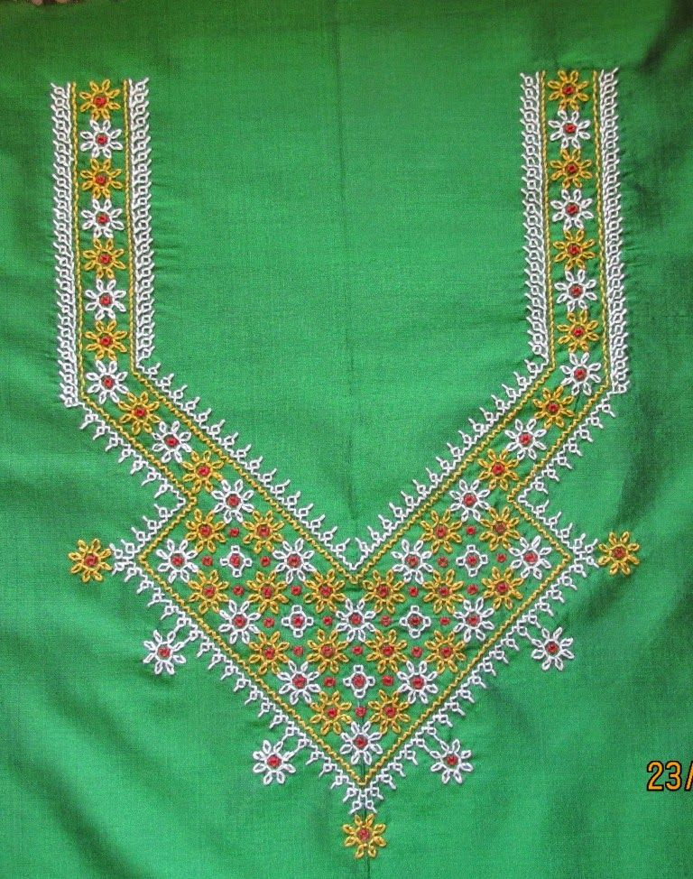 My Craft Works Kasuti Embroidery Yoke And Border | Embroidery | Pinterest | Embroidery Craft ...