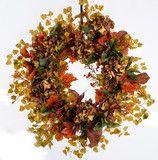 Hydrangea, Sunflower and Maple Wreath (FW754) | Darby Creek Trading