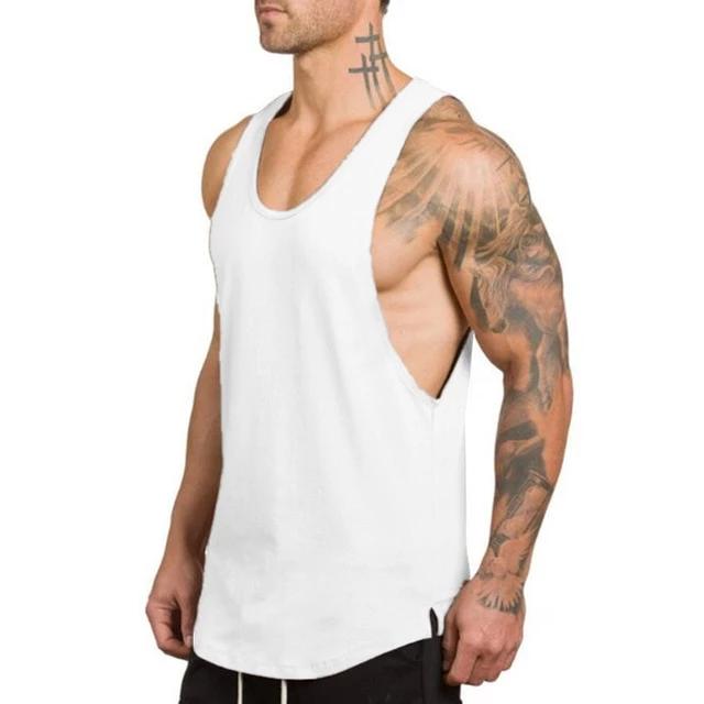 Muay Thai Men/'s Sport Running Boxing Vest Singlet Tank Tops T-Shirt Size L Grey