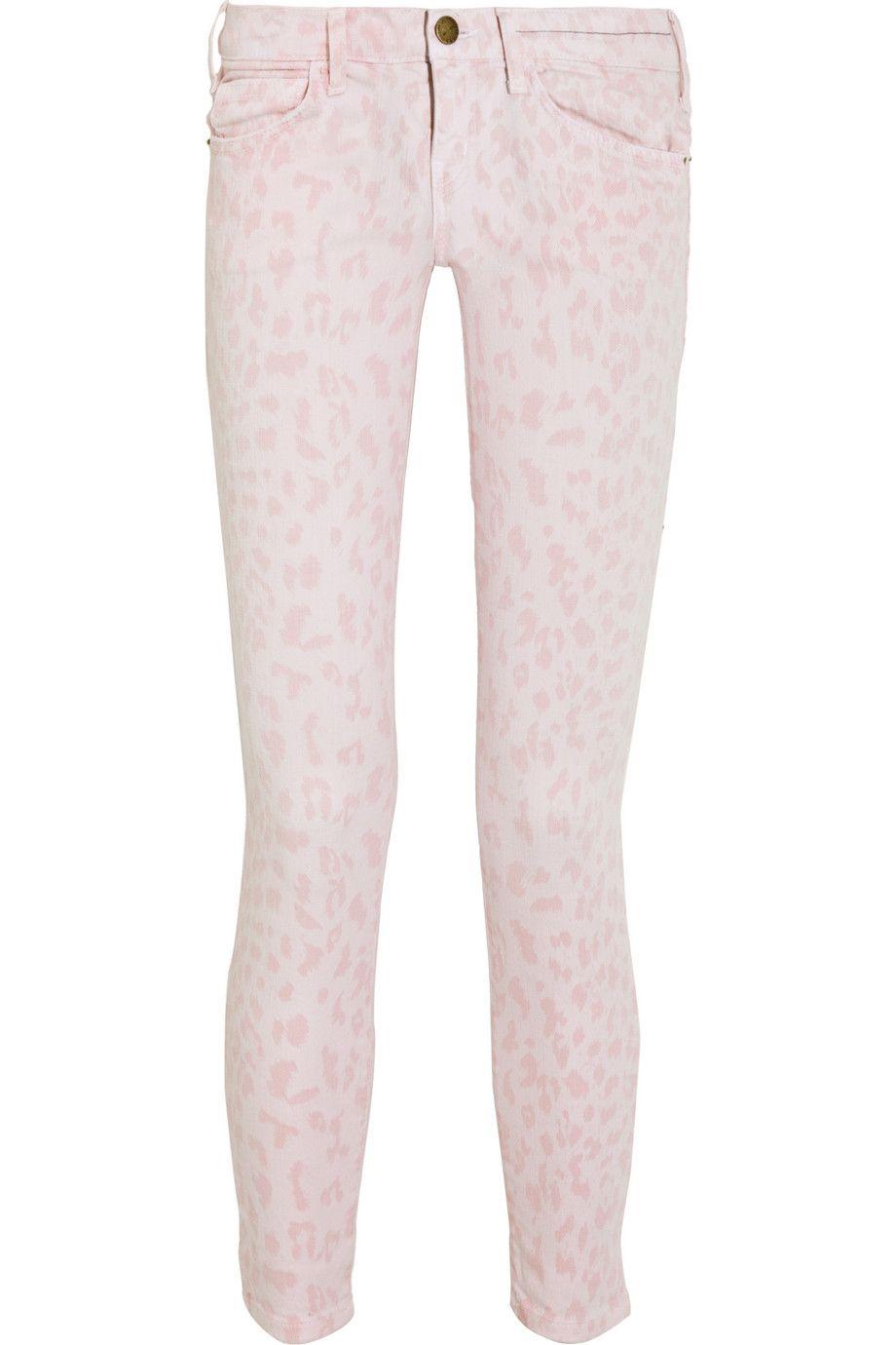 ec4b2e16aef0 Pink leopard-print skinny jeans!? | fashion | Jeans, Printed skinny ...