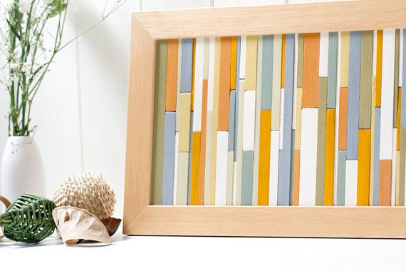 Modern Abstract Wall Art Wood. I may need to make one of these ...