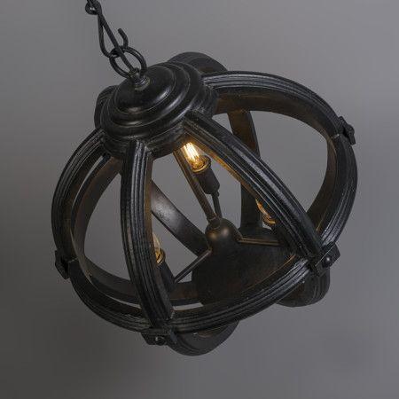 Lámpara colgante MARISE 3 negra #material #iluminacion #interiorismo #diseño