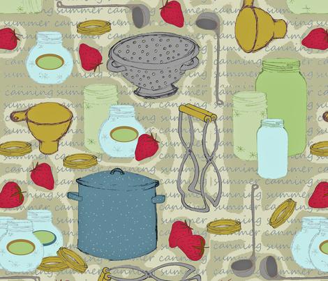 canning utensils fabric by joojoostrees on Spoonflower - custom fabric