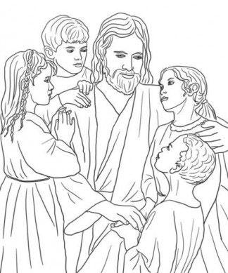 Colorear a Jesús con niños | Dibujos De Jesús | Pinterest | dibujos ...
