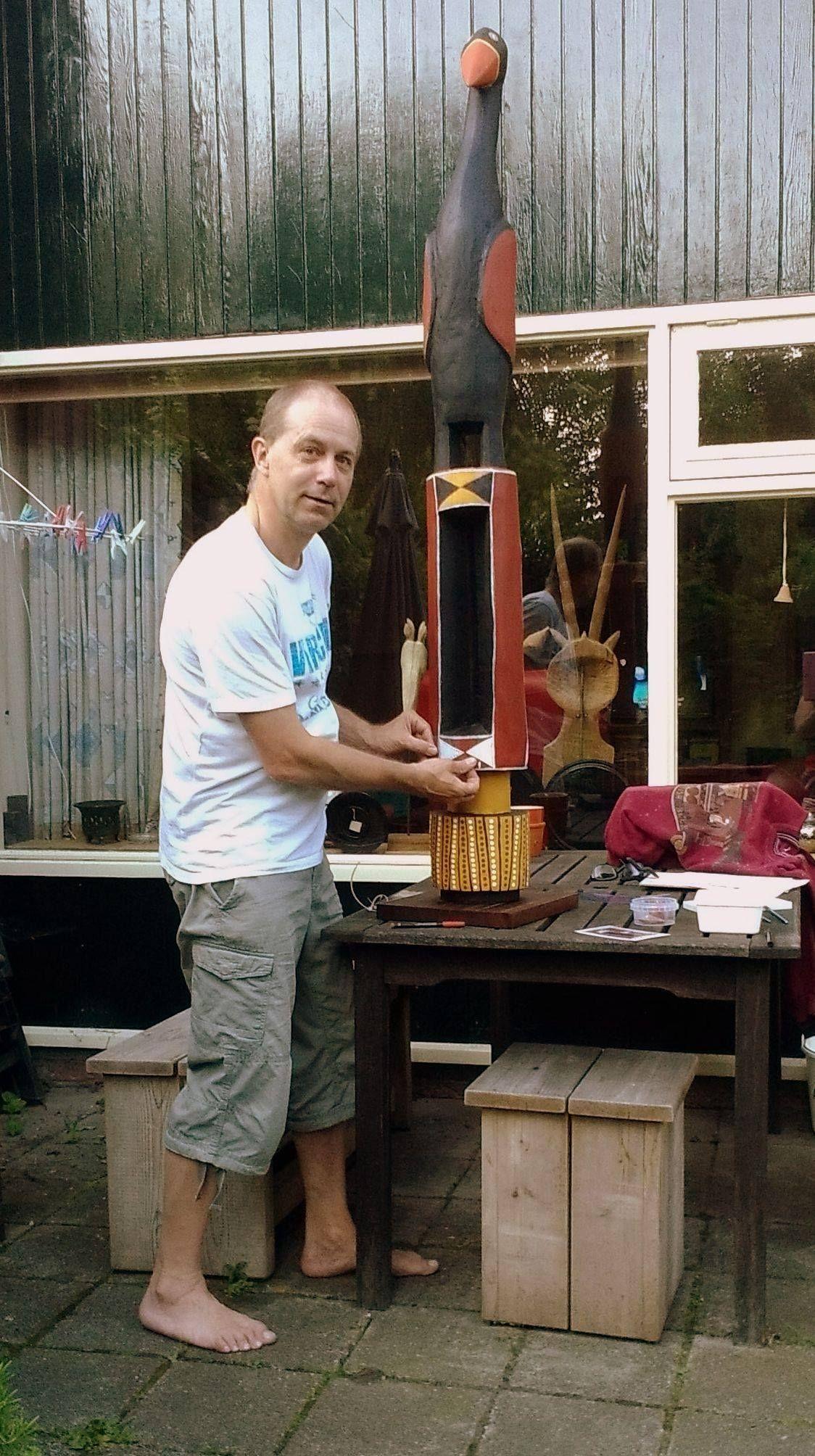 Making my own Pukumani pole