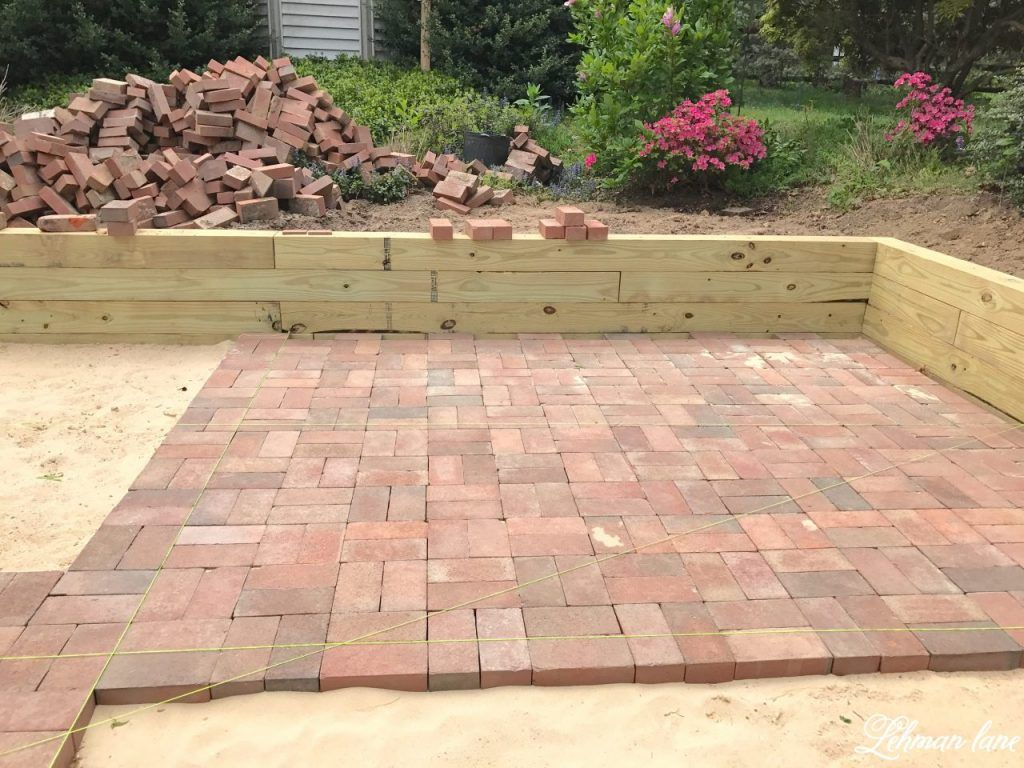 Different Types Of Patio Pavings Diy Brick Patio Laying Brick