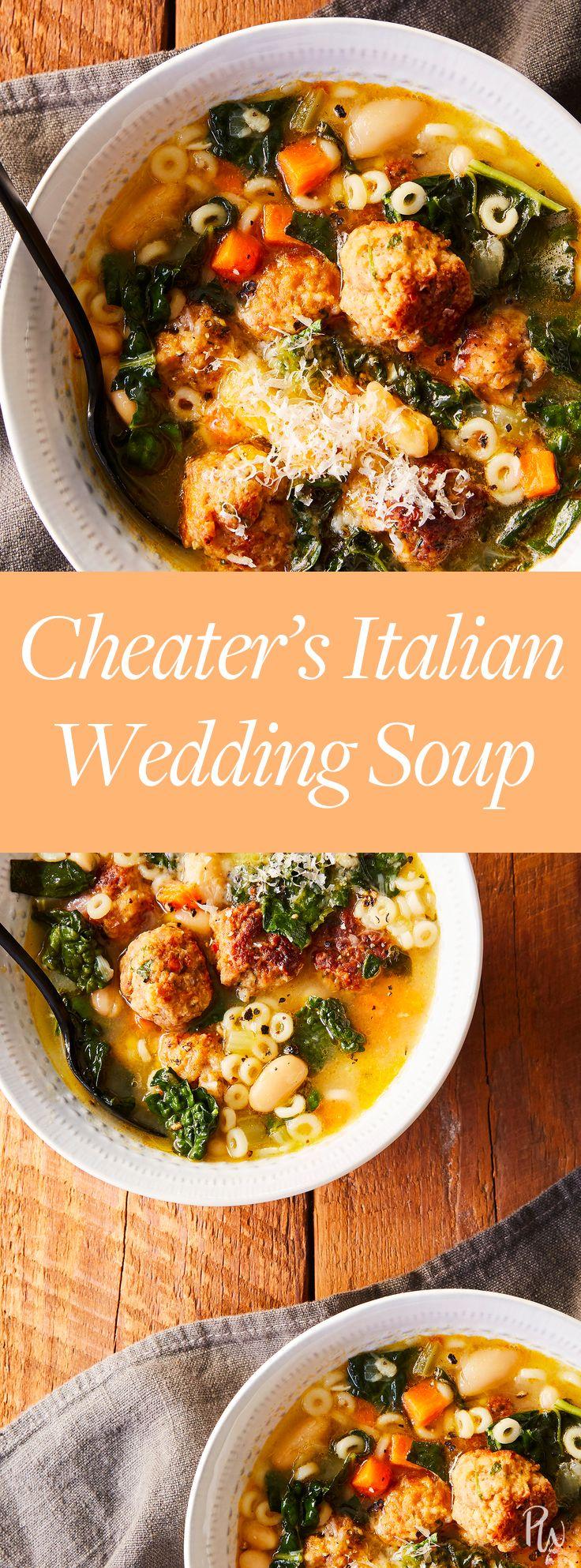 Cheater's Italian Wedding Soup Recipe Soups Wedding