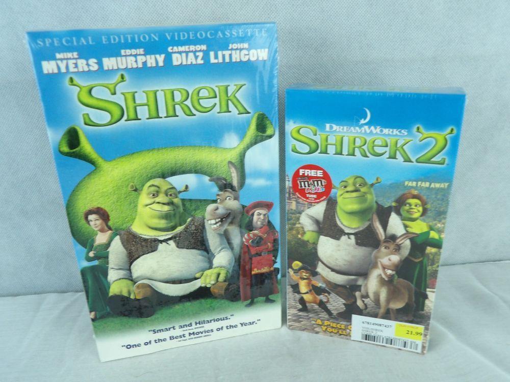 Shrek Special Edition Shrek 2 Vhs Both Sealed Shrek Ebay Vhs