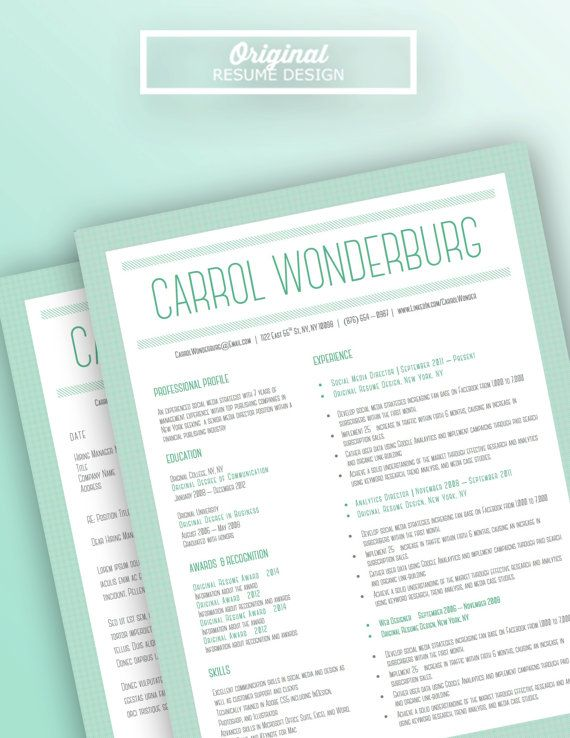 Microsoft Word Professional Letter Template Magnificent Resume And Cover Letter Template For Microsoft Word Carrol .