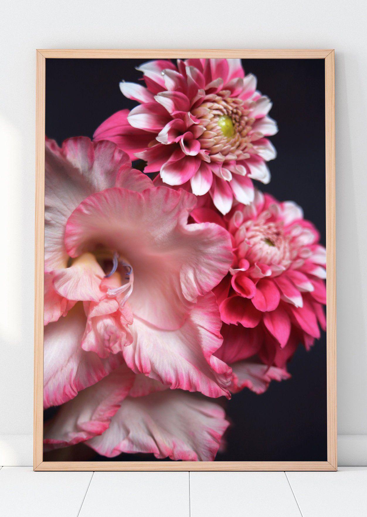 Gladiolus Flower Printable Wall Art Pink Gladiolus Etsy Flower Printable Printable Wall Art Downloadable Art