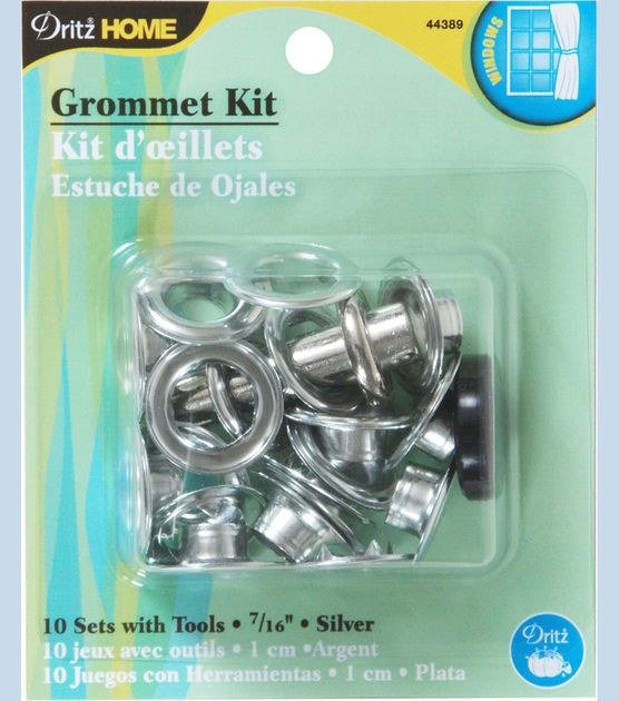Dritz Home 0 44 Metal Grommet Kit Silver Grommet Curtains