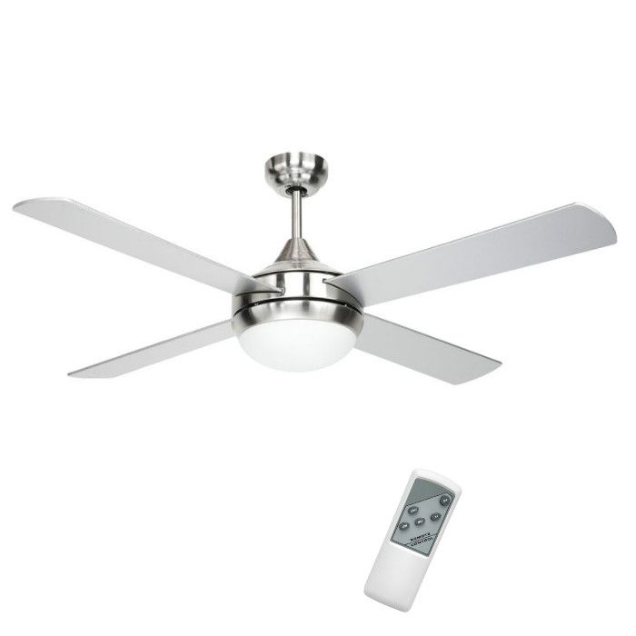 brighton 52″ silver ceiling fan with light & remote $165 | p25
