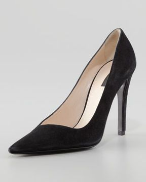 ac966b297 Giorgio Armani Asymmetric Pointed-Toe Pump, Black on shopstyle.com ...