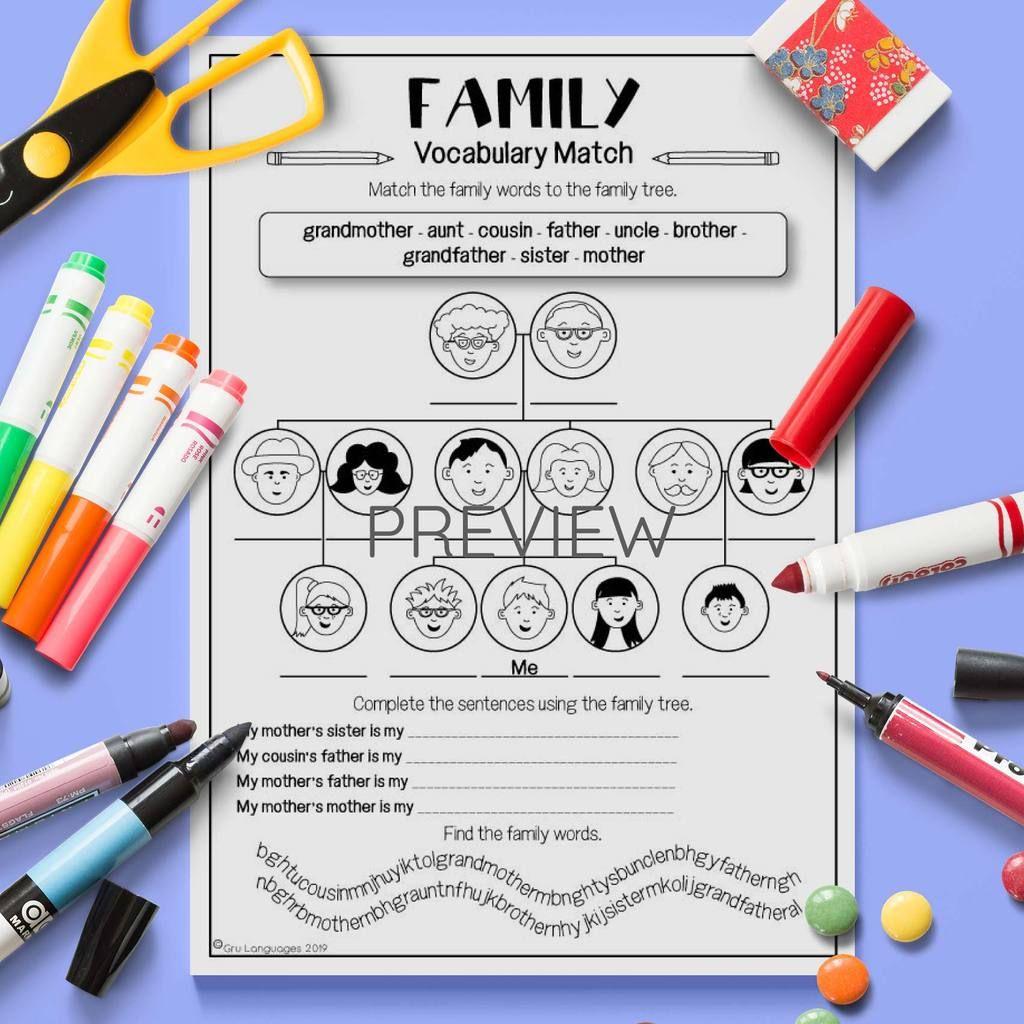 L4 Family Vocabulary Match