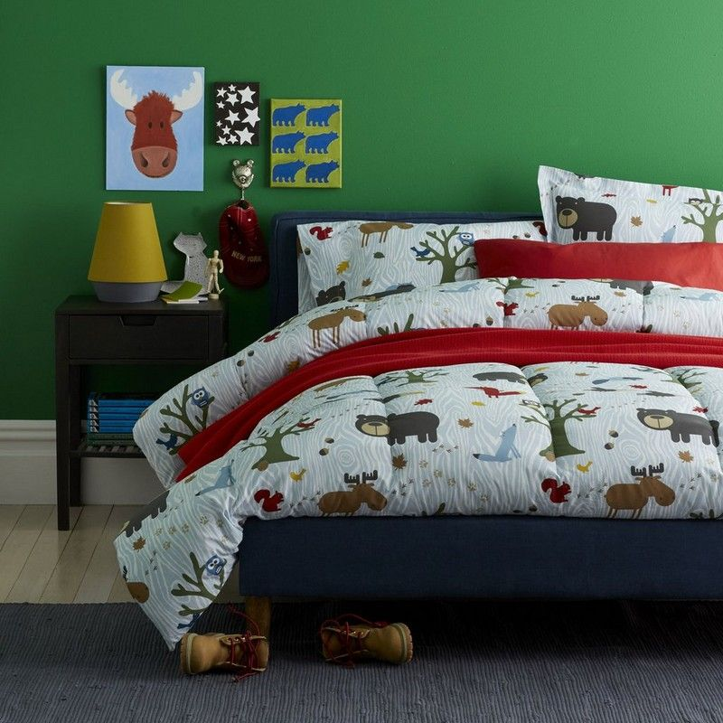 Woodland Kids Bedding Welcome To The Forest So Many Wild