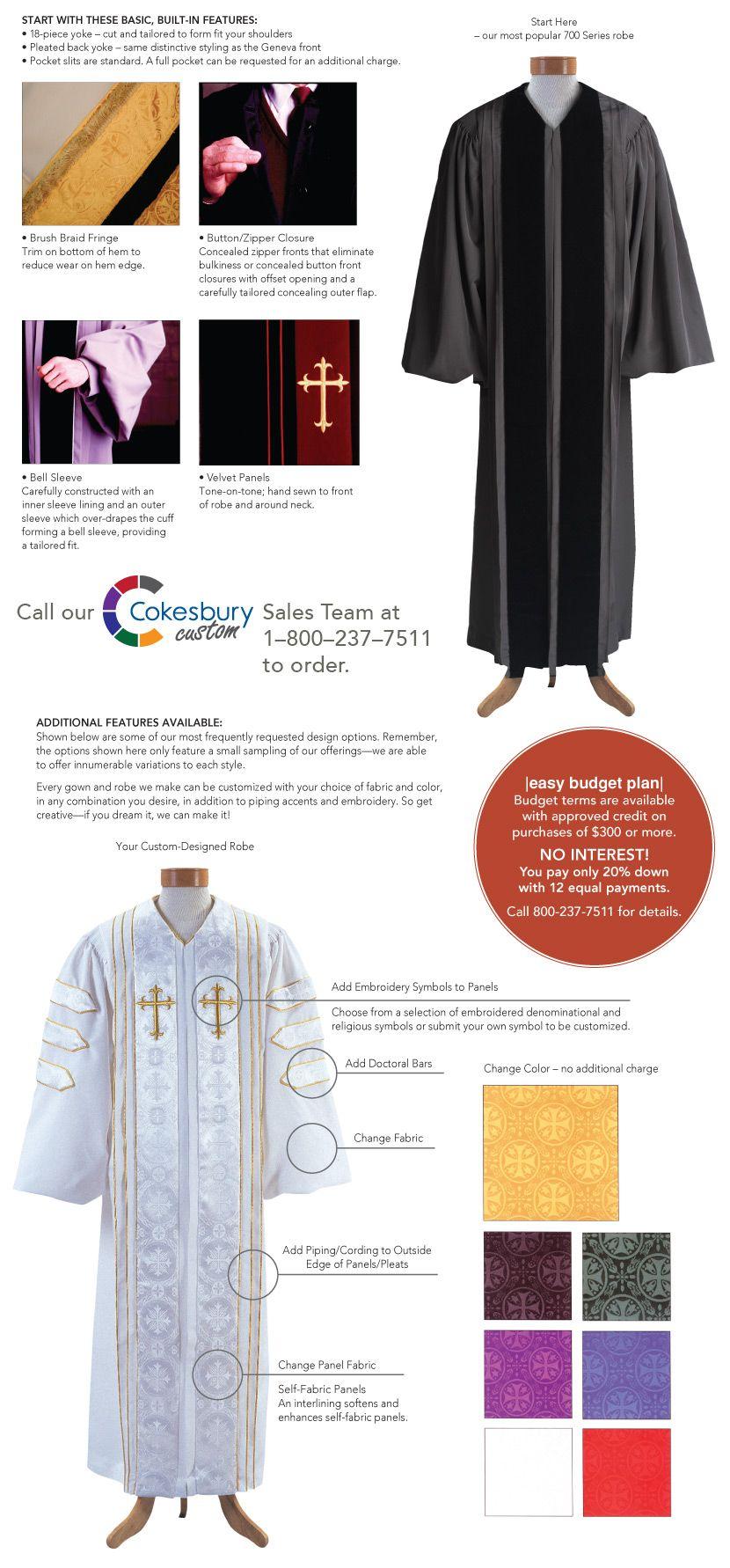 Cokesbury - Custom Clergy Robes | Busy-ness Woman | Pinterest | Robe ...