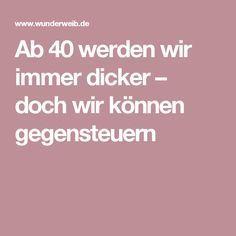 Ab 40 Dicker Bauch