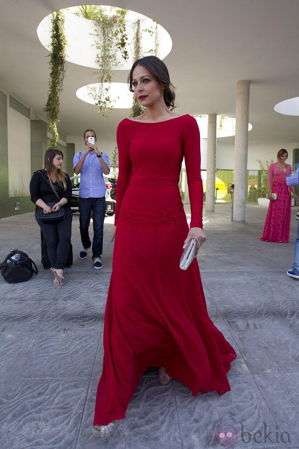 1f84000103 Eva González en la boda de Elisabeth Reyes y Sergio Sánchez