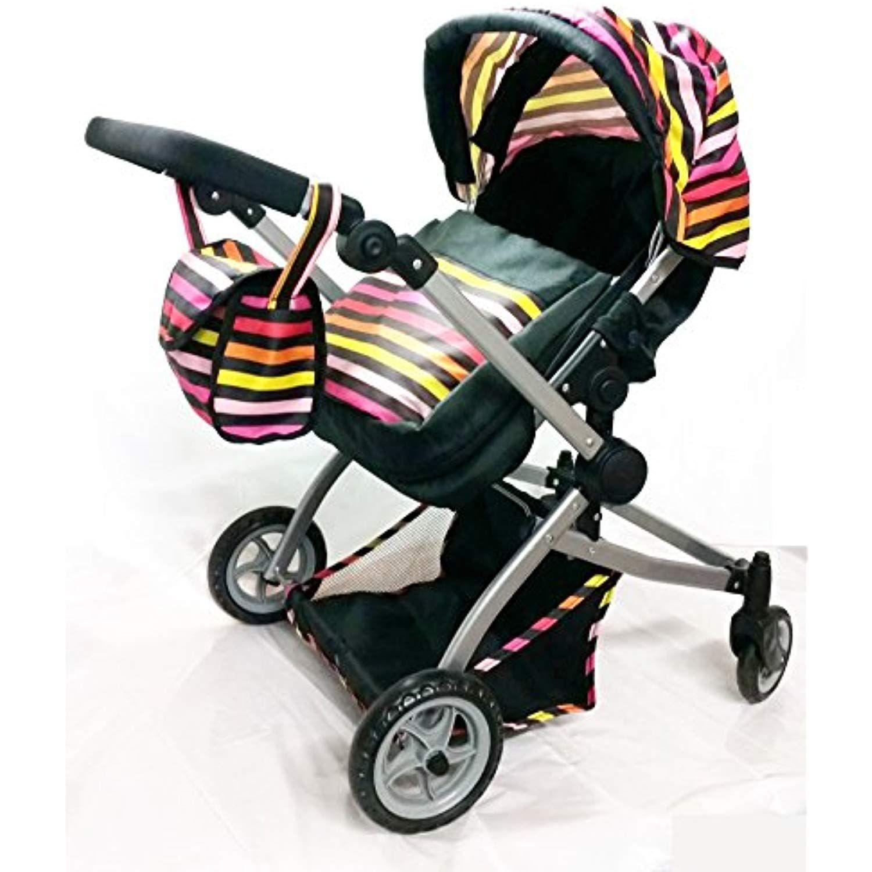 Babyboo Twin Stroller/Doll Pram Deluxe Little Marcel Look
