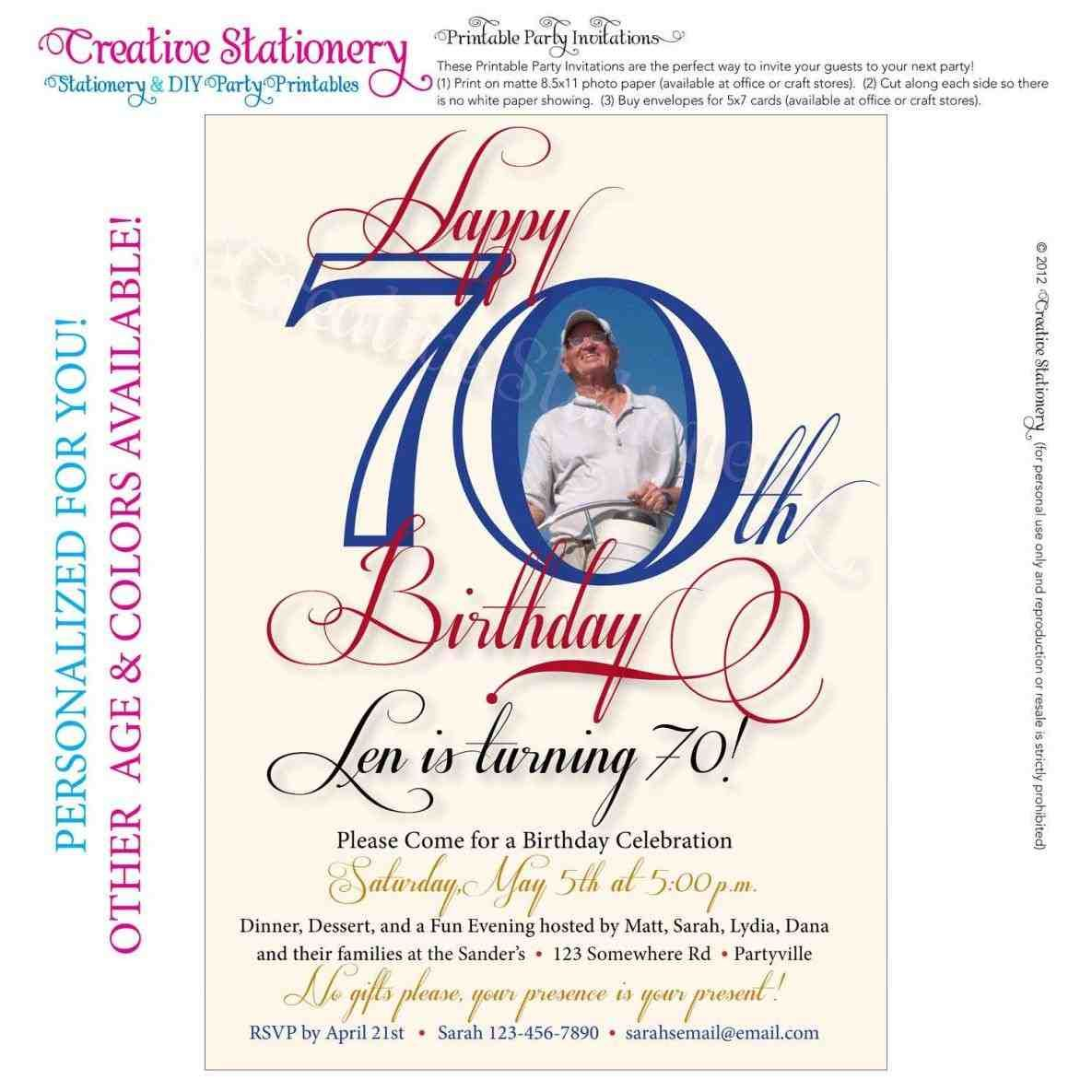 New 70th Birthday Card Template Large Size Happy Auntie Bright Pink