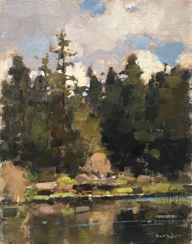 Jim McVicker, demo | Plein Air | Landscape art, Oil ...