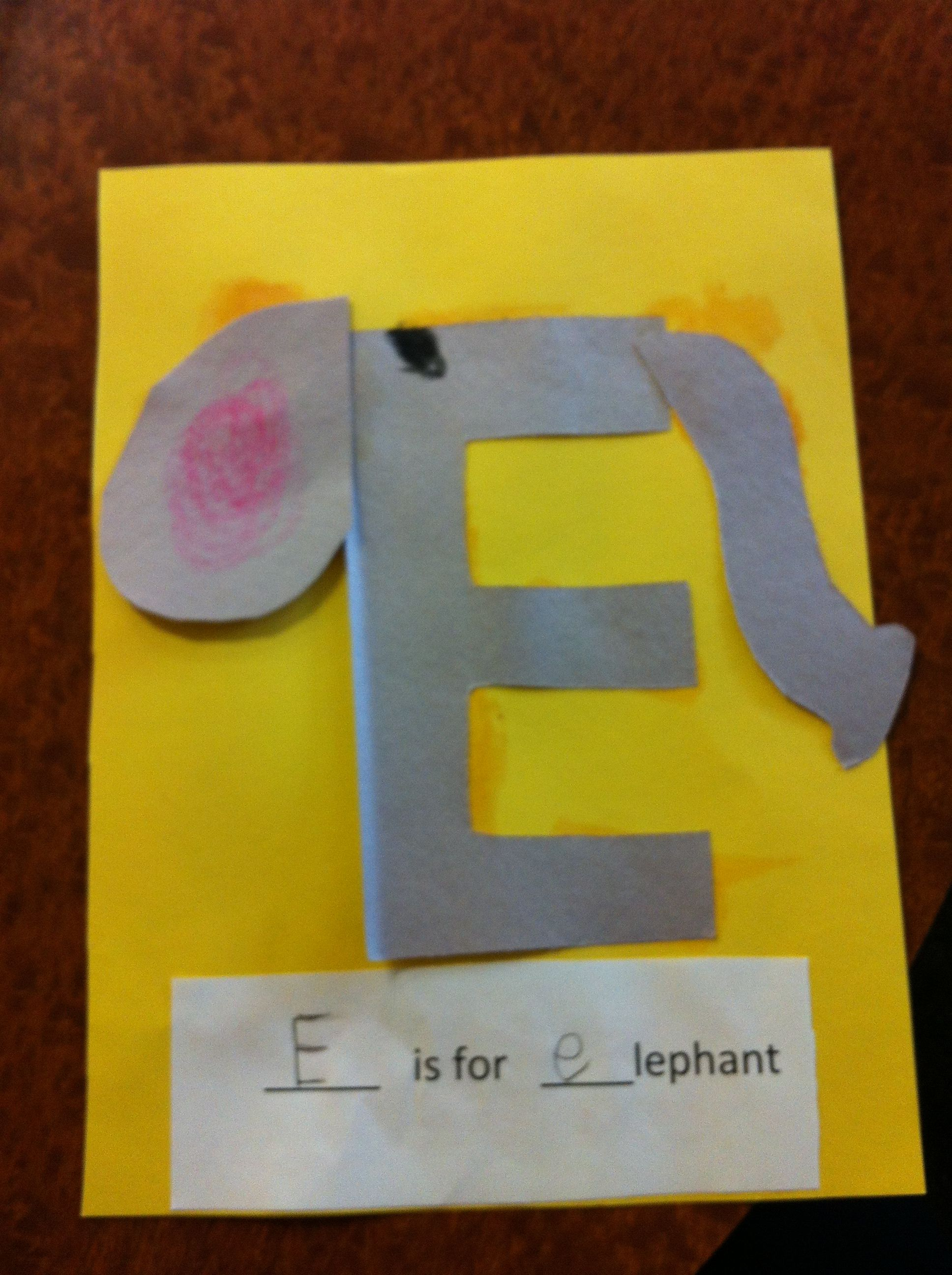 letter e craft by cori letter e pre k crafts crafting 544