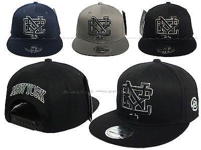 f112b032d63 New mens  ladies  snapback new york fashion nyc  baseball cap flat peak hip