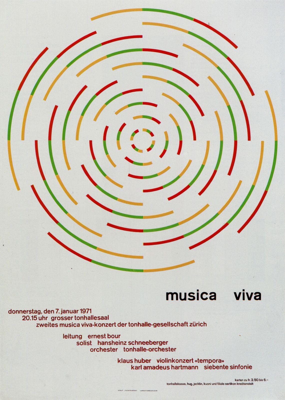Josef Müller-Brockmann | Graphic & Illustration | Pinterest | Musica ...