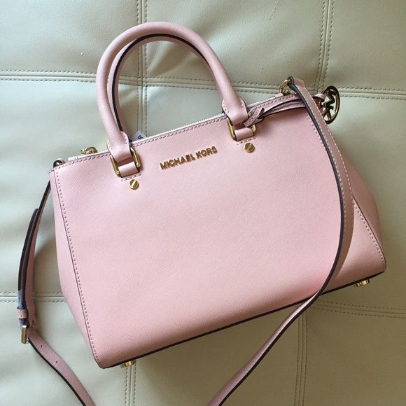 7f39f384953ae7 Small Michael Kors Sutton Saffiano Satchel In color Pastel Pink. Brand new  with tag! Pristine, unused condition. Dimension: 11x8x4 inch.