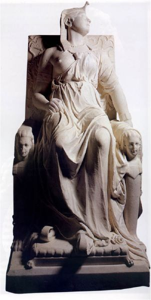 "Edmonia Wildfire Lewis ( 1845 - 1900? ) ""Death of Cleopatra"" 1876"