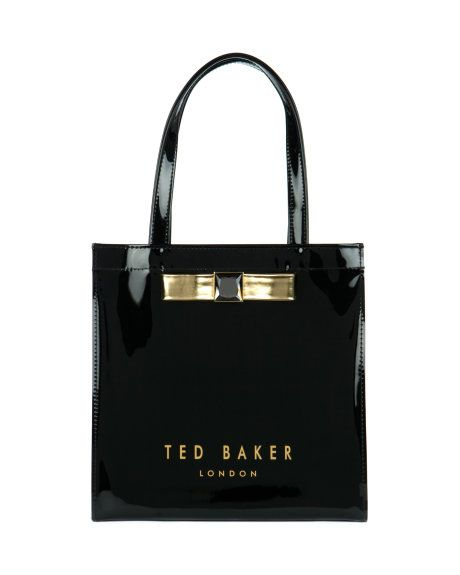 a43e5a8b4ba Small crystal bow shopper - Black   Bags   Ted Baker UK  www.MadamPaloozaEmporium.com www.facebook.com MadamPalooza