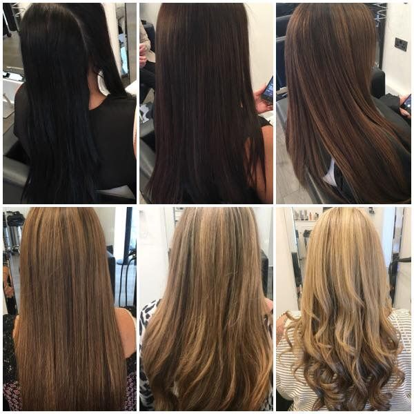 New Year Transformation This Image Perfectly Shows The Process From Black To Blonde Maintai Dark To Light Hair Color Correction Hair Hair Color For Black Hair