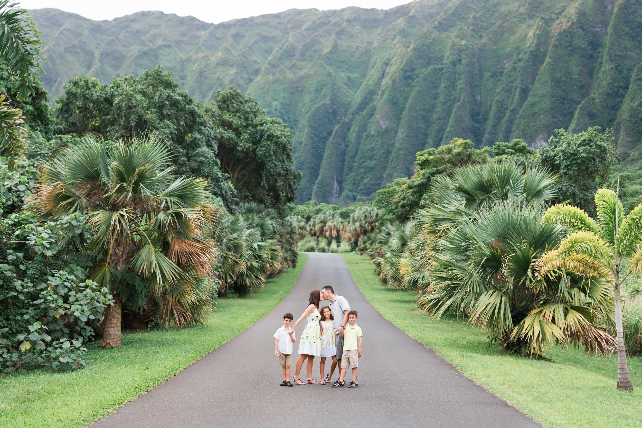 Ho Omaluhia Botanical Gardens Oahu Family Photographer