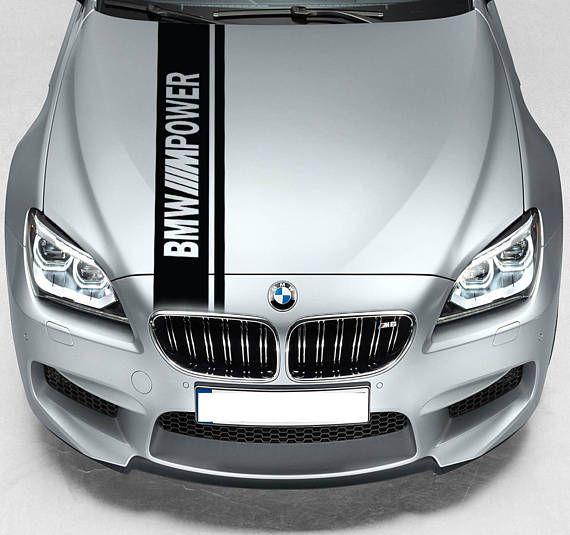 For Bmw M Power Dual Rally Hood Stripe Car Vinyl Sticker Etsy Hood Stripe Bmw Performance Bmw