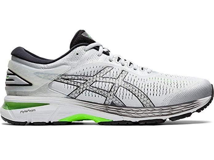 ASICS Men's Gel-Kayano 25 Running Shoes, 11M, Silver/Green ...