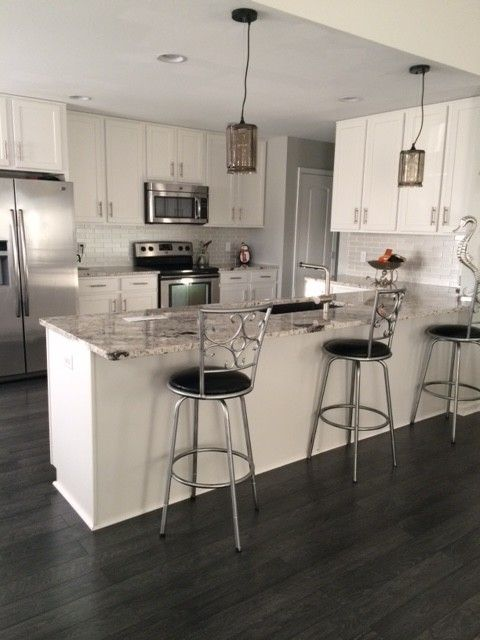 Dream Home St James 12mm Pad Flint Creek Oak Home Flooring Interior Design Living Room Modern