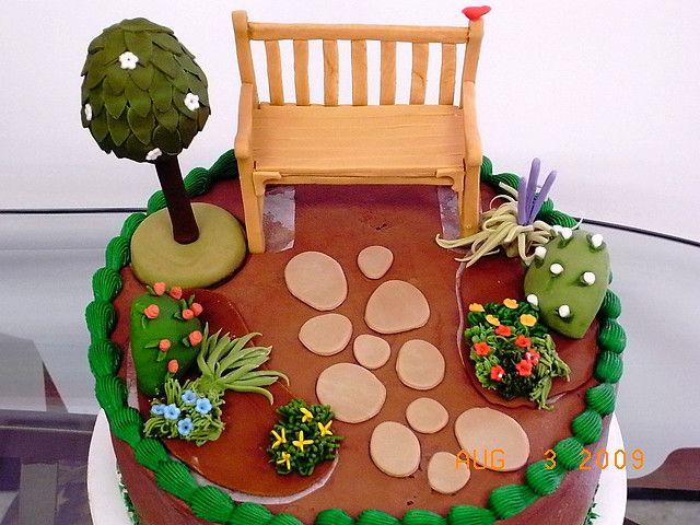Garden Cake 2 Garden Cakes Allotment Cake Cake Decorating