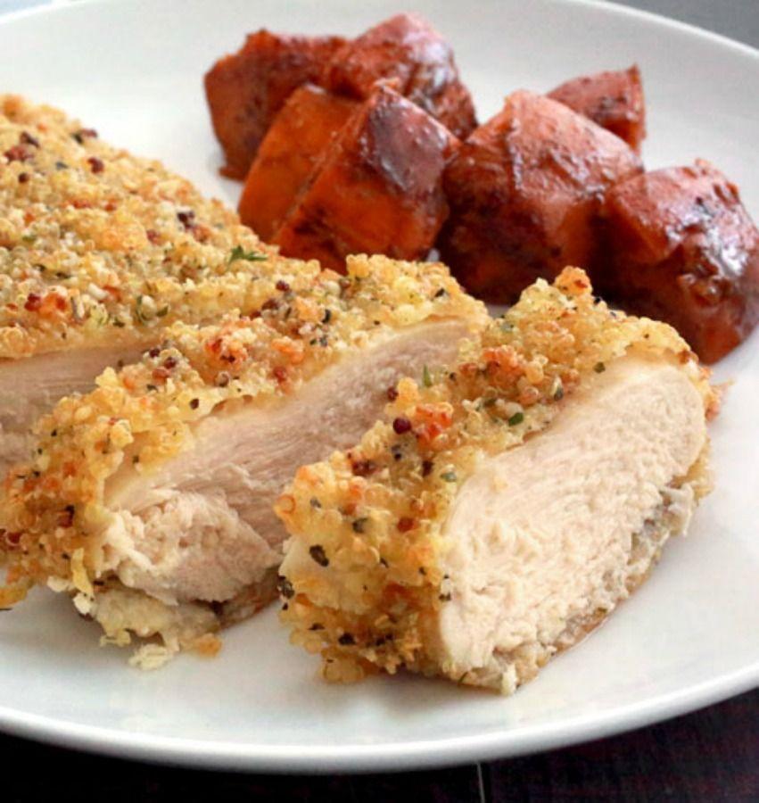 Baked quinoa crusted chicken recipe everyday dishes crusted baked quinoa crusted chicken recipe forumfinder Gallery