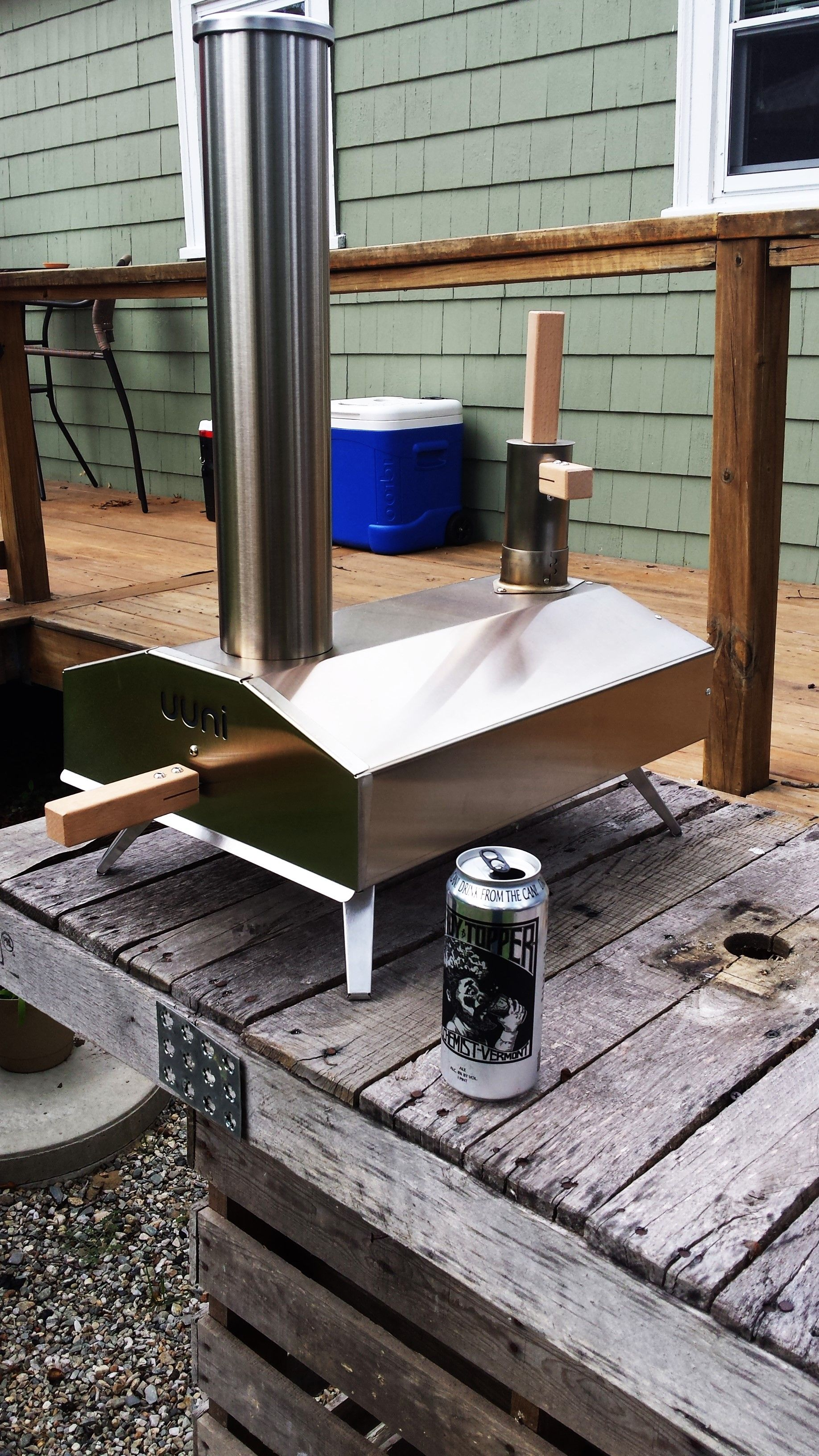New addition to the outdoor kitchen this thing is going to get a