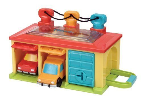 Toysmith Battat Under Lock And Key Garage Toy By Toysmith 28 36 Vehicles Store Behind Color Coded Doors K Baby Toddler Toys Under Lock And Key Toddler Toys