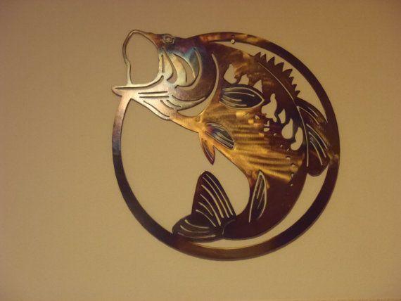 Back 20 Metal Worx Large Mouth Bass Saw Blade Metal Wall Art